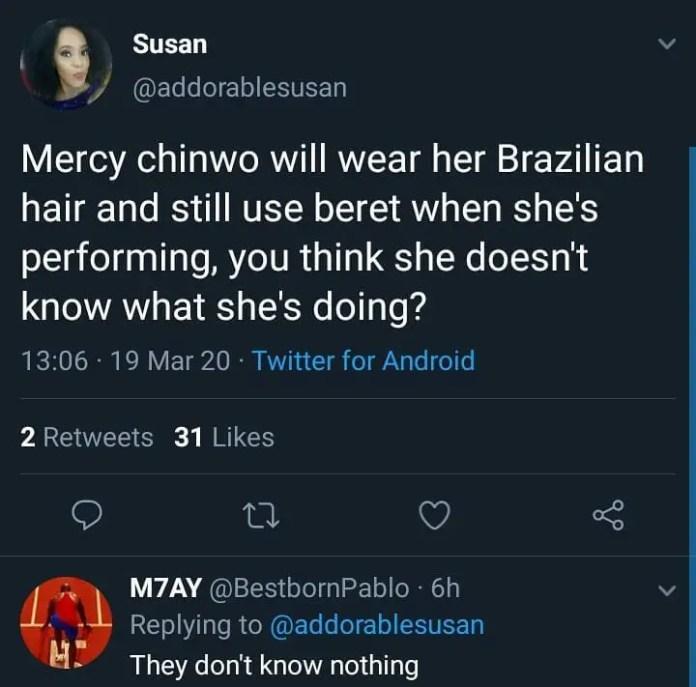 Social Media Users Roast Pastor For Saying Mercy Chinwo Dresses Seductively(+Screenshot)