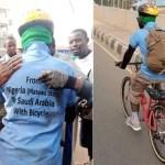 Nigerian Man Starts A Journey From Nigeria To Saudi Arabia On A Bike- Photo