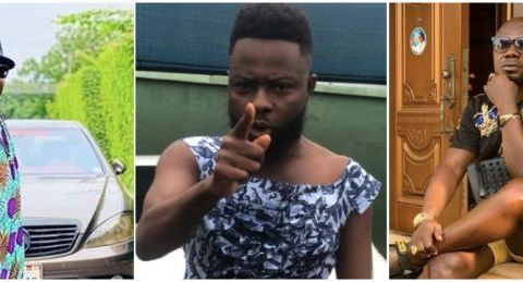 Video: Actor Kwame Borga Descends Heavily On Osebo; Warns Him To Stop Copying His Fashion Style Else It'll Be Bloody