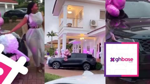 More Pressure: Hajia4Real Challenges Nana Aba As She Gets A New Range Rover And A House On Her Birthday