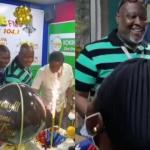 Staff Of Peace Fm Throw A Birthday Party For Kwame Sefa Kayi Ahead Of His 50th Birthday Celebration Tomorrow – Video