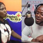 Nana Romeo Drops Phone After Female Presenter Also Threatened To Bring Out Evidence That Shows He Wanted To 'Eat' Her