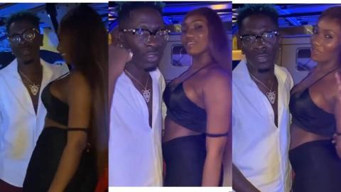 #ShattaShay: Shatta Wale And Wendy Shay Display Their Love For Each Other Once Again – Video