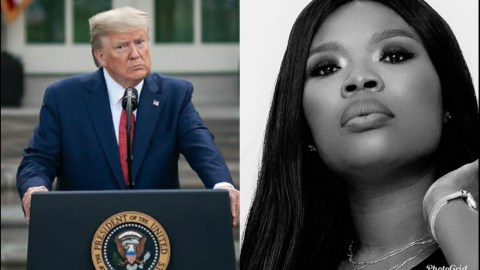 Delay Eulogizes Donald Trump, Says She Is His African Wife