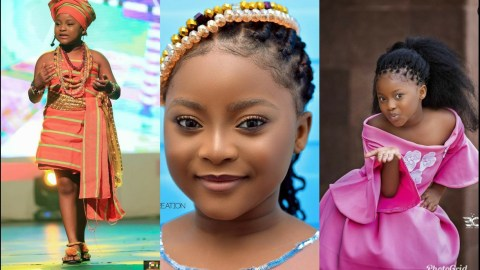 Checkout These Beautiful Photos Of Nakeeyat As She Marks Her 8th Birthday