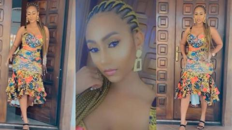 Hajia4Real Looking Gorgeous As She Steps Out From Her Trassaco House (+video)