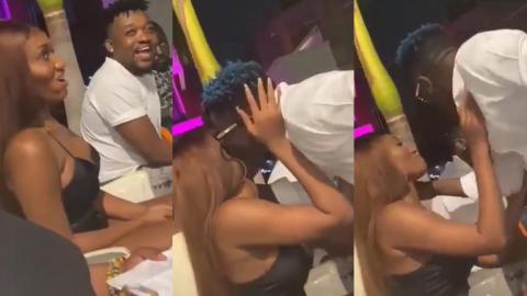 The Romantic Moment Shatta Wale And Wendy Shay Were Captured Kissing – Video