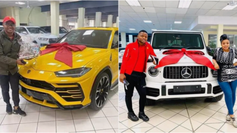 Money Talks! Wife Buys Husband Lamborghini, Husband Challenges Her & Also Buys Her A Mercedes Benz G-Wagon (+Photos)