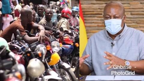 Okada Has Created More Jobs Than NABCo, YEA. I Will Legalize It – Mahama
