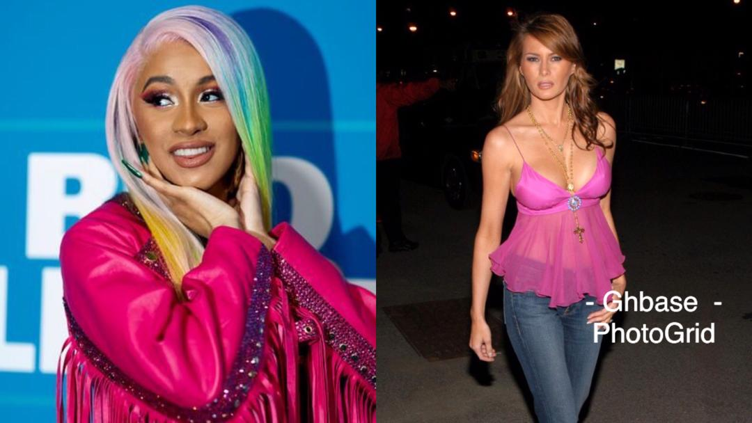 Cardi B Shares A Nude Photo Of US First Lady Melania Trump Following A Shade From Journalist