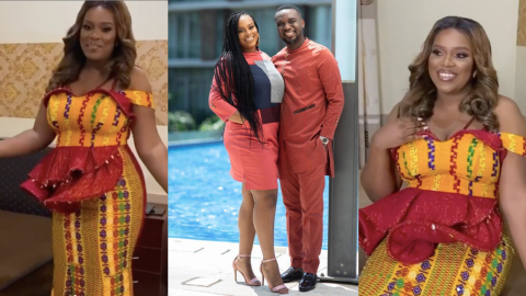 Joe Mettle's Wife Selasie Looking All Pretty In Her Traditional Marriage Gown(Video)