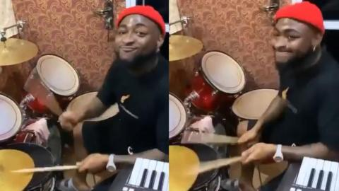 Video Of Davido Playing Drums In Church Goes Viral – WATCH