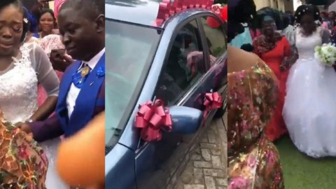 Woman Can't Hold Back Her Tears After Mom Gifts Her A Brand New Car On Her Wedding Day- Watch
