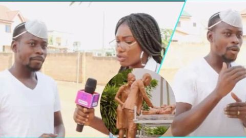 Video: After spending months to create a sculpture, Ghanaians don't patronize – SculptorMustapha Dimson cries out