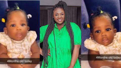 Who Does She Look Like? – Tracey Boakye Shows Off Her 4months Old Daughter In New Video