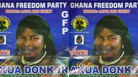 Akua Donkor outdoors manifesto; promises to change the Cedi to British pounds when voted for [Details]