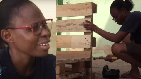 Meet Emelda Adjei, the journalist who abandoned media work to go pursue a career in carpentry