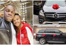 Loving wife buys hubby an expensive Mercedes Benz on his birthday
