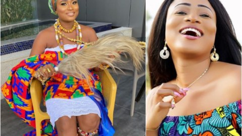 Bad Girl Gone Good: Christabel Ekeh Stuns In Kente Cloth As She Shares Throwback Photo
