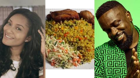 Tracy Sarkcess Hails Sarkodie For Preparing Her The Best Fried Rice, Ready To Sell It For Ghc 300 A Pack