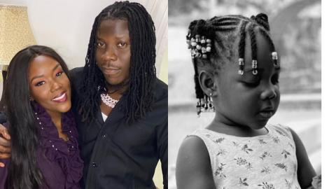 Fans Find It Difficult Spotting The Difference Between Stonebwoy's Wife And Daughter In A Surfaced Photo