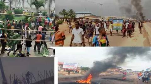 Prison Break: Nigeria protestors free prison inmates with brutal force [Video]