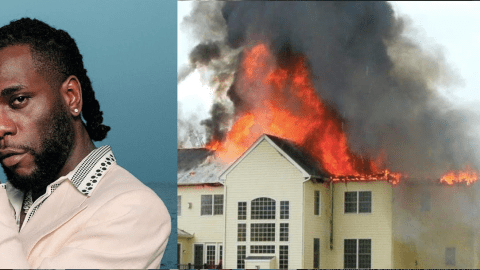 Video: Burna Boy's Mansion In Nigeria Burnt Down By Rioters