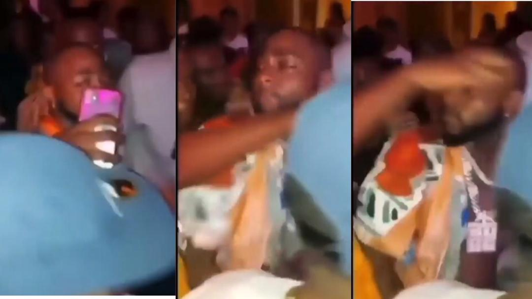 Video: Moment Davido sharply snubbed a fan who tried to take a selfie with him