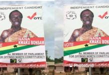 Kwaku Bonsam to contest as independent parliamentary candidate for Offinso North constituency
