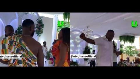 Joyful Dad – Special Ice CEO Dr. Ernest Ofori Sarpong Displays His Dance Skills Together With His Daughter And Son-In-Law