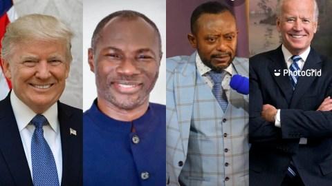 (+VIDEO) Prophet Badu Kobi And Owusu Bempah Do Yawa As Their Prophecy For Trump's Win Fails