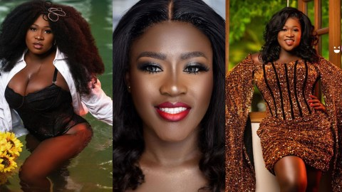 Money Speaks: Watch The Moment Fella Makafui Splashed Cash On Sista Afia At Her Birthday Party (+VIDEO)