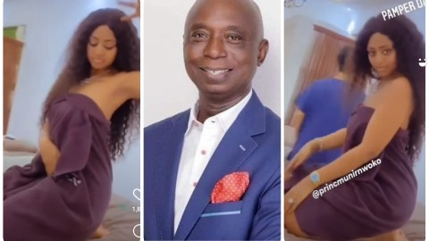 Video Of Regina Daniels Stripping For Her 64 Year Old Husband Pops Up Online – WATCH