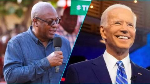 I look forward to the two of us working together- Mahama tells Joe Biden