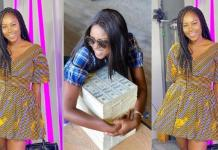 Yvonne Nelson flaunts bundles of dollar bills and promises to gift 20 fans $10k each