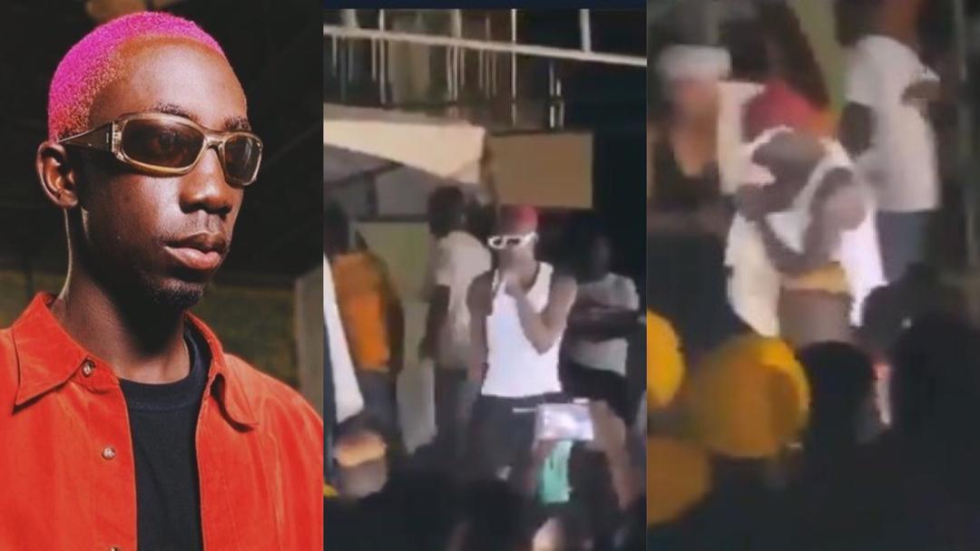 """""""Mine is better than Akufo-Addo's"""" – Bosom PYung says after falling off the stage while performing [Video]"""