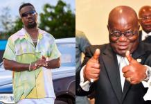 I am not doing songs against Prez. Akufo-Addo because he solved 'Dumsor' – Sarkodie