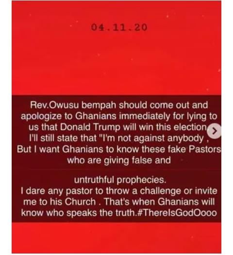 Rev. Owusu Bempah is Fake, He Should Apologise to Ghanaians-Ibrah One 1