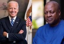 Mahama congratulates Joe Biden on his election victory