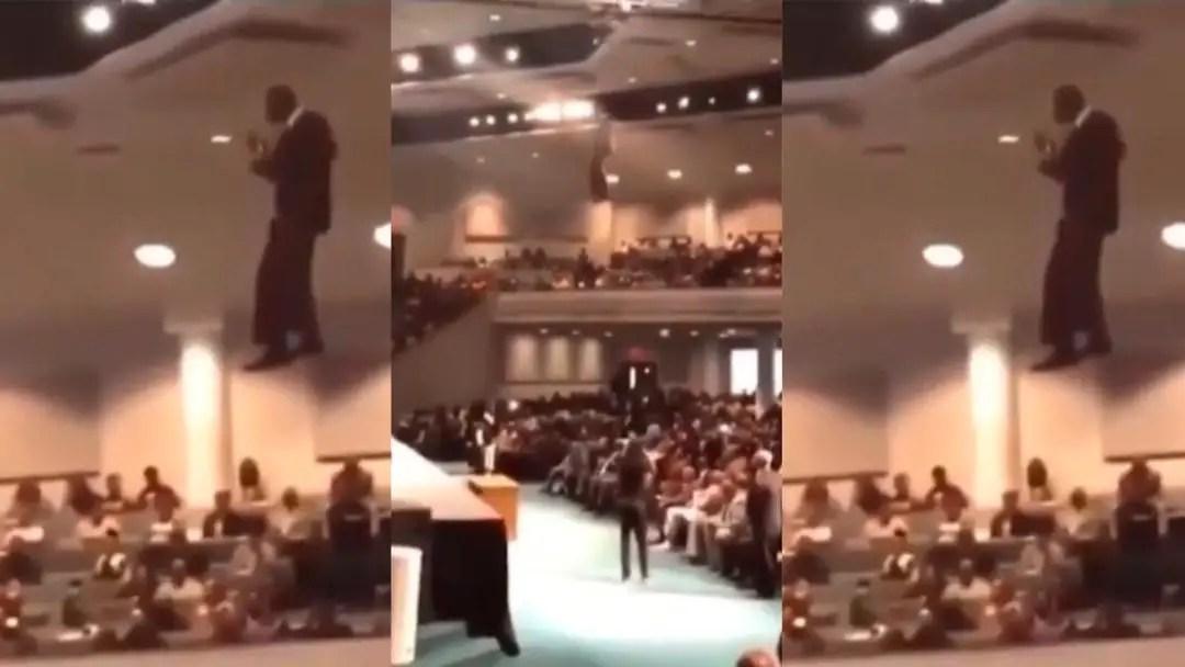 Pastor Descends Into Church Auditorium Through The Sky Unaided [Video]
