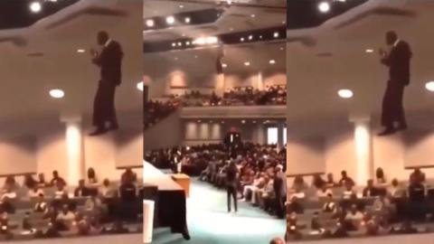 Miracle: Pastor Descends Into Church Auditorium Through The Sky Unaided [Video]