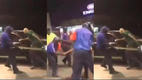 White man flogged by fuel attendants for allegedly calling one of them 'Monkey' [Video]