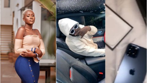 Christmas Came Early For Fella Makafui After Medikal Returns From The US With Three iPhone 12 Pros And Designer Clothes For Her