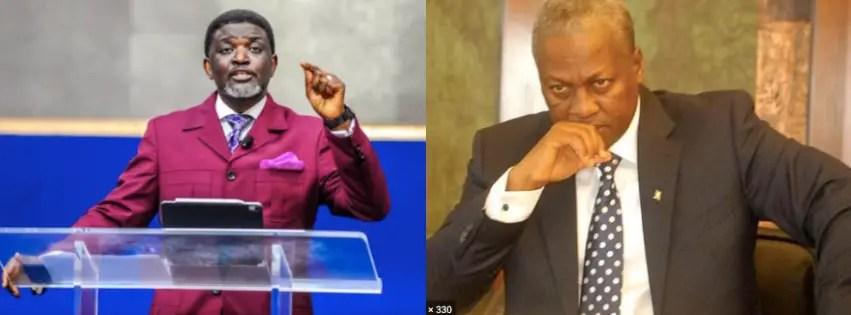 Choose peace over war – Bishop Agyinasare tells Mahama