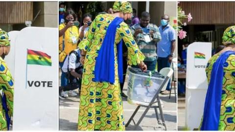 Ghana Election 2020: Samira Bawumia votes without ID card