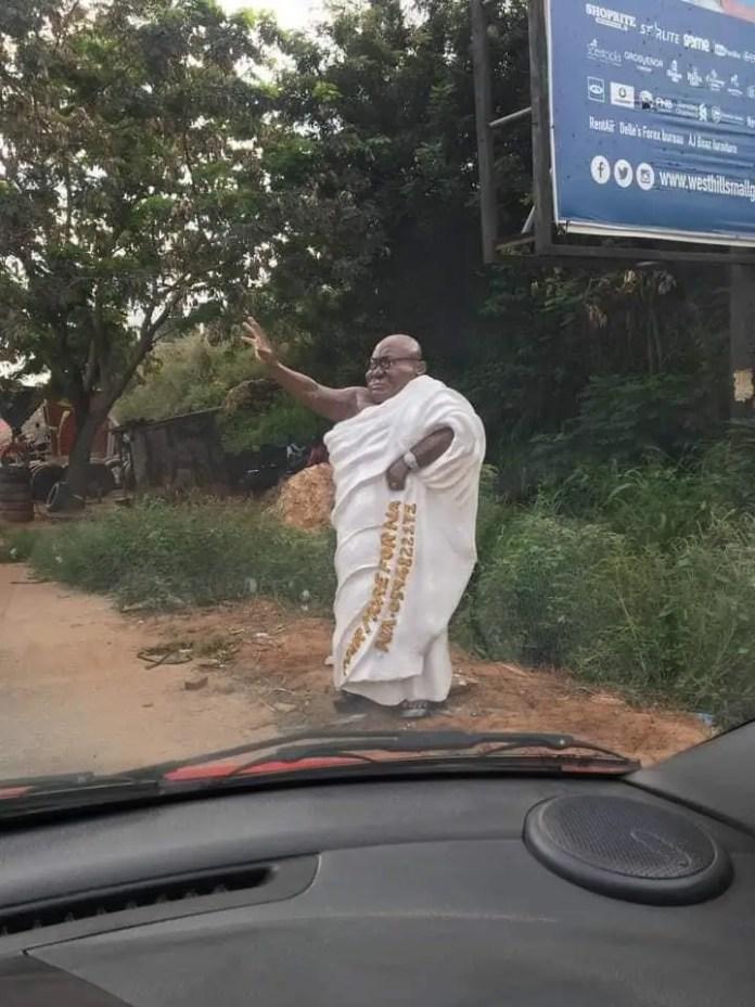 nana akufo addo statue in ghana