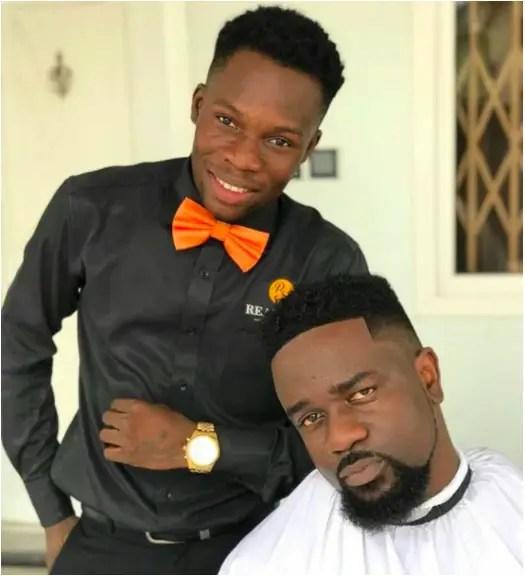 Celebrity Barber and Sarkodie