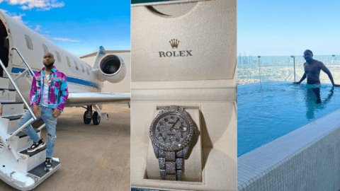 Hustle For The Paper: Davido Gifts Cousin $40k Rolex Watch