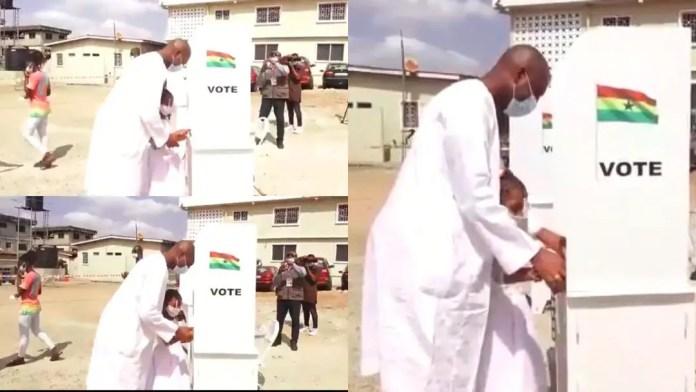 Ghana Election 2020: Asawase MP Mubarak Muntaka causes a stir after allowing his daughter to thumbprint the ballot [Video]