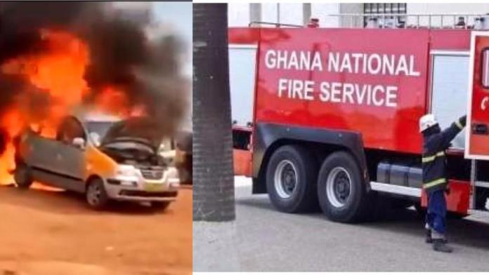Ghana Fire Service personnel mocked after their tanker arrived without water to douse vehicle on fire [Video]